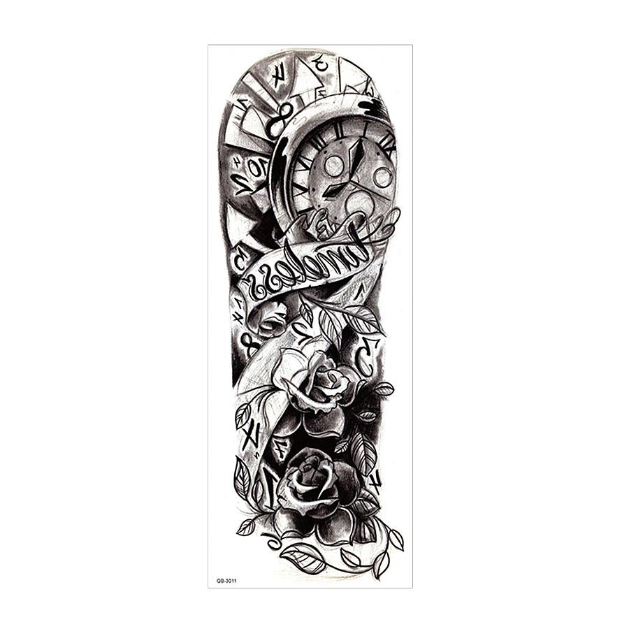 Tatuaż Zmywalny Rękaw Qb 3011 Tatuażezmywalnepl