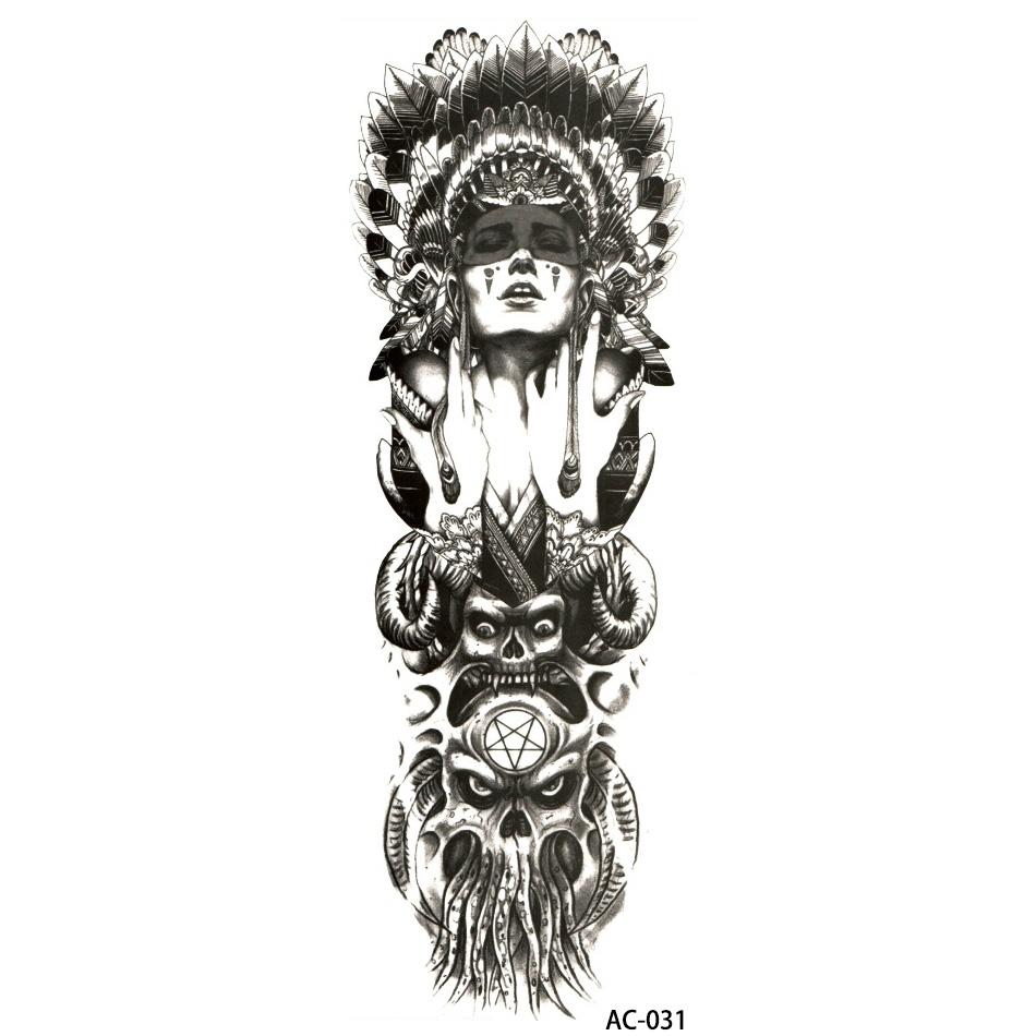 Tatuaż Zmywalny Rękaw Ac 031