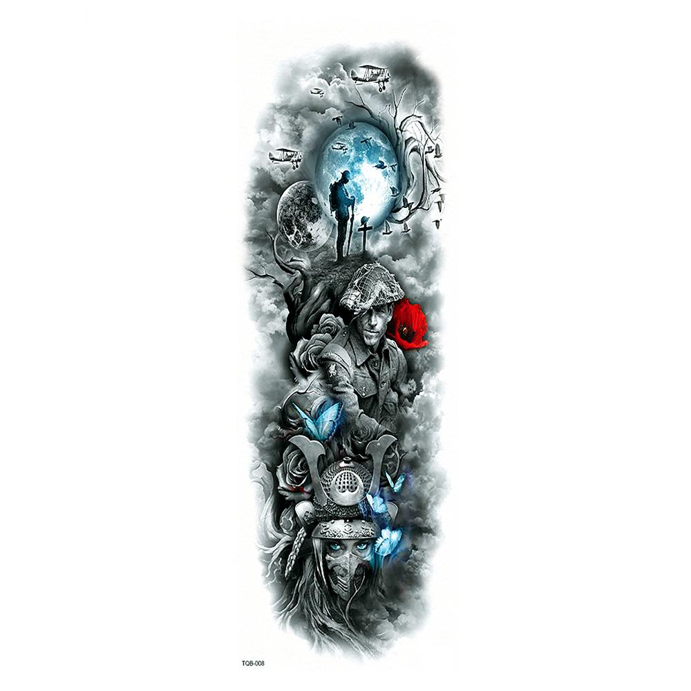 Tatuaż Zmywalny Rękaw Tqb 008