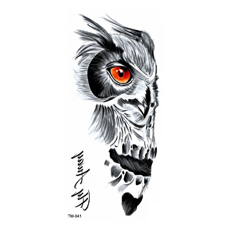 Tatuaż Zmywalny Wst Tl 041 Sowa