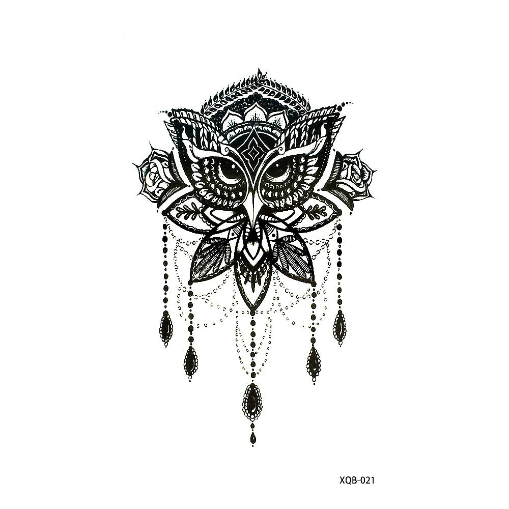 Tatuaż Zmywalny Xqb 021 Sowa